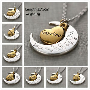 Family-034-I-Love-You-To-The-Moon-And-Back-034-For-Mom-Sister-Family-Necklace-Pendant