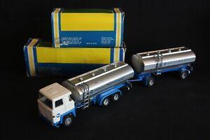 """Nacoral Scania 140 V8 Tank Truck + Trailer """"Melk Moet"""" 1:50 #205 + 213 (J&KvW)"""