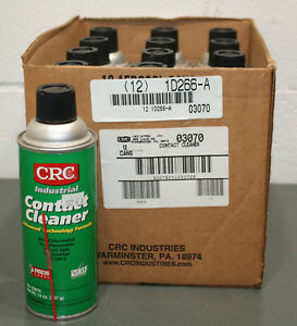 Details about (12) CRC Industrial Contact Cleaner 03070, 14 oz Aerosol  Spray Can, Nonflammable