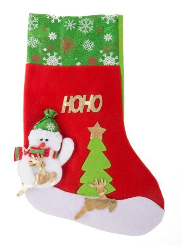Nikolausstiefel zum Befüllen 37x25cm Nikolausstrumpf Weihnachtsstrumpf Geschenke