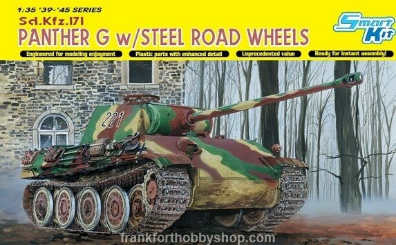 Dragon  35 Panther Ausf. G Late Production w Steel Road Wheel