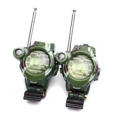 2PCS Kid Child Toy Outdoor Games Walkie Talkie Compass Girl Boy Watch Interphone
