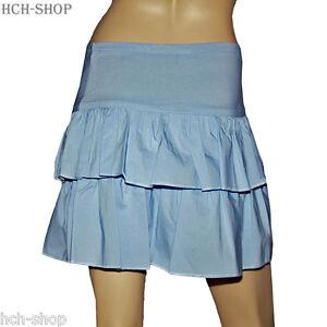 Minirock Stretchrock Volantrock Sommerrock Mit Breitem Bund Gr S/m M/l Hellblau Hitze Und Durst Lindern. Vintage-mode Damenmode