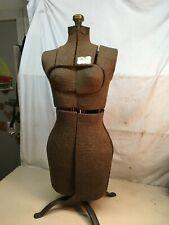 Vintage 1940s Womans Adjustable Dress Form Mannequin Sewing Dress Form