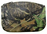 Leather Camouflage Zippered Coin Pouch Change Holder Usa Made