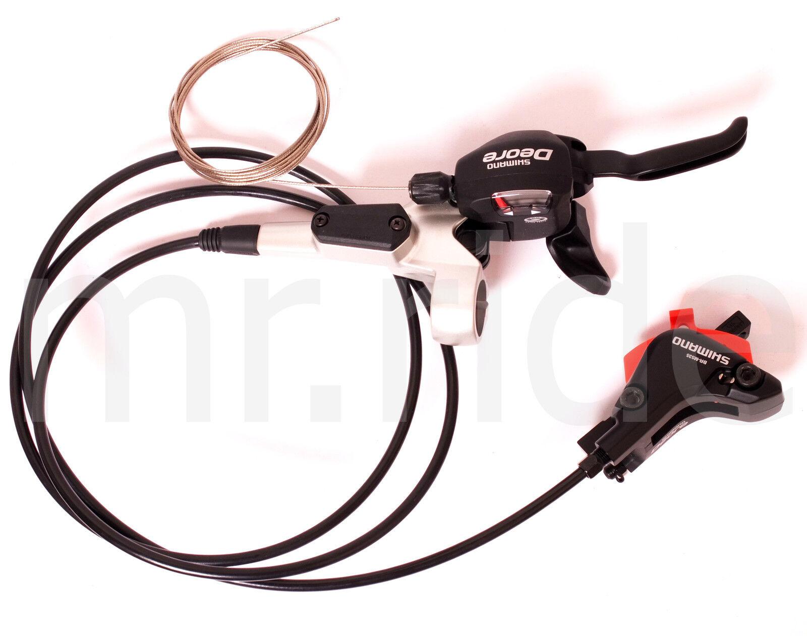 Shimano Deore STM535 Dual Control Shifter, Freno a disco idraulico posteriore argentoo