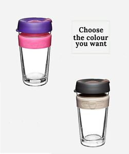 KeepCup-Longplay-Glass-Cup-Silicone-Band-Reusable-Eco-Coffee-Cold-Drinks-12-16oz