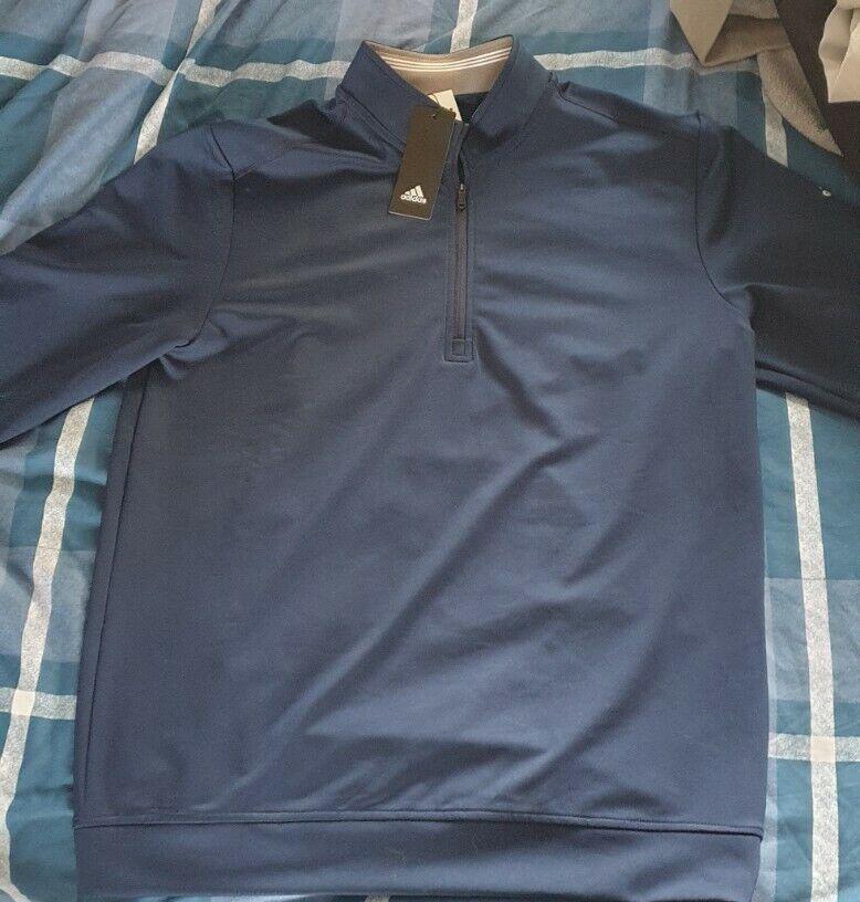 Adidas Classic Club 1/4 Zip Golf Navy Sweatshirt Size Medium