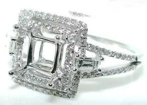 50-CT-Square-Double-HALO-DIAMOND-Mounting-RING-Setting