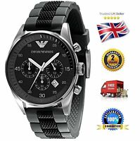 Emporio Armani Ar5866 Sports Men's Gents Black Dial Date Chronograph Watch