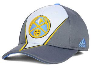 ffd0e90fd87 Denver Nuggets adidas NBA Slasher Men s Flex Fitted Cap Hat - Size ...
