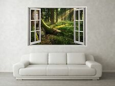 Woodland Scene 3D Full Colour Window Home Wall Art Stickers Mural Decal