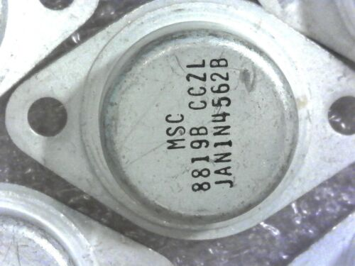 5/% Tol 50 Watt Zener Diode 6.2V New Vintage Mil-Spec JAN 1N4562B