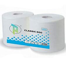 💦💪2 Rotoloni di Carta 2x 800 strappi Bobine Asciugamani in pura cellulosa 100%