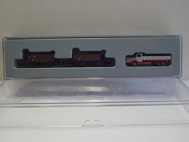 z mini club 86331 2 elevato bordo carrello Schwerin-Dresda + CAMION OVP