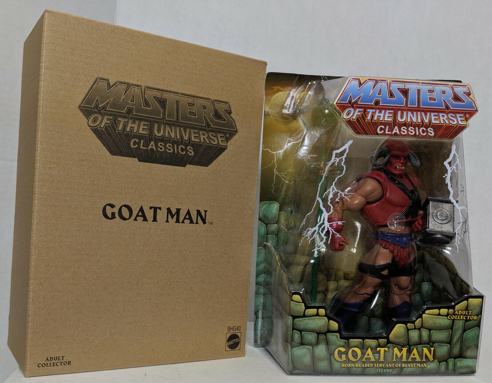 MOTUC Masters of the Universe Classics Goat Man figure Mattel MOC avec Mailer New