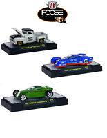 Chip Foose Release 3, 3 Cars Set W/cases 1/64 Models By M2 Machines 32600-cf03