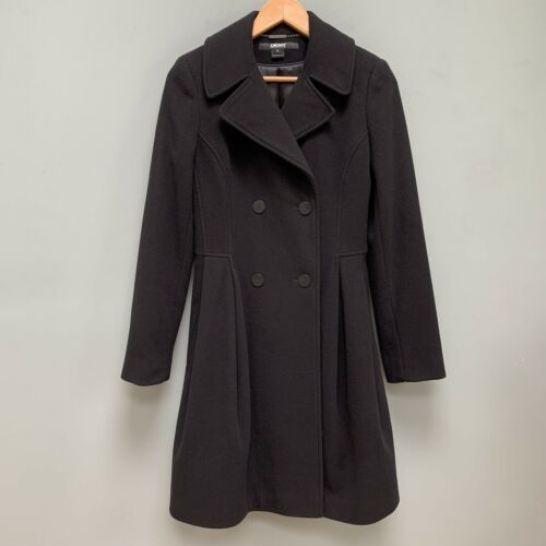 DKNY Cashmere Wool Fit And Flare Coat