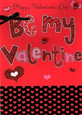 Be My Valentine Hand-Finished 3D Valentines Card Valentine's Day Cards