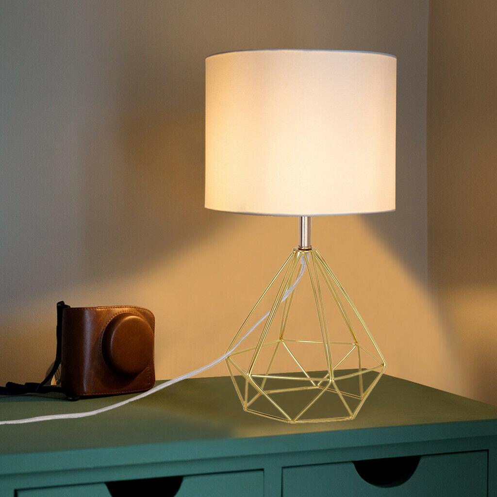 Modern Table Lamp Steel Holder Wooden Base Indoor Lighting Fitting Bedside Light For Sale Online Ebay