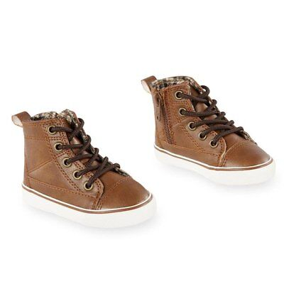 Koala Kids Sherpa Lined Brown Lace Up Shoe Toddler Size  7  NWT