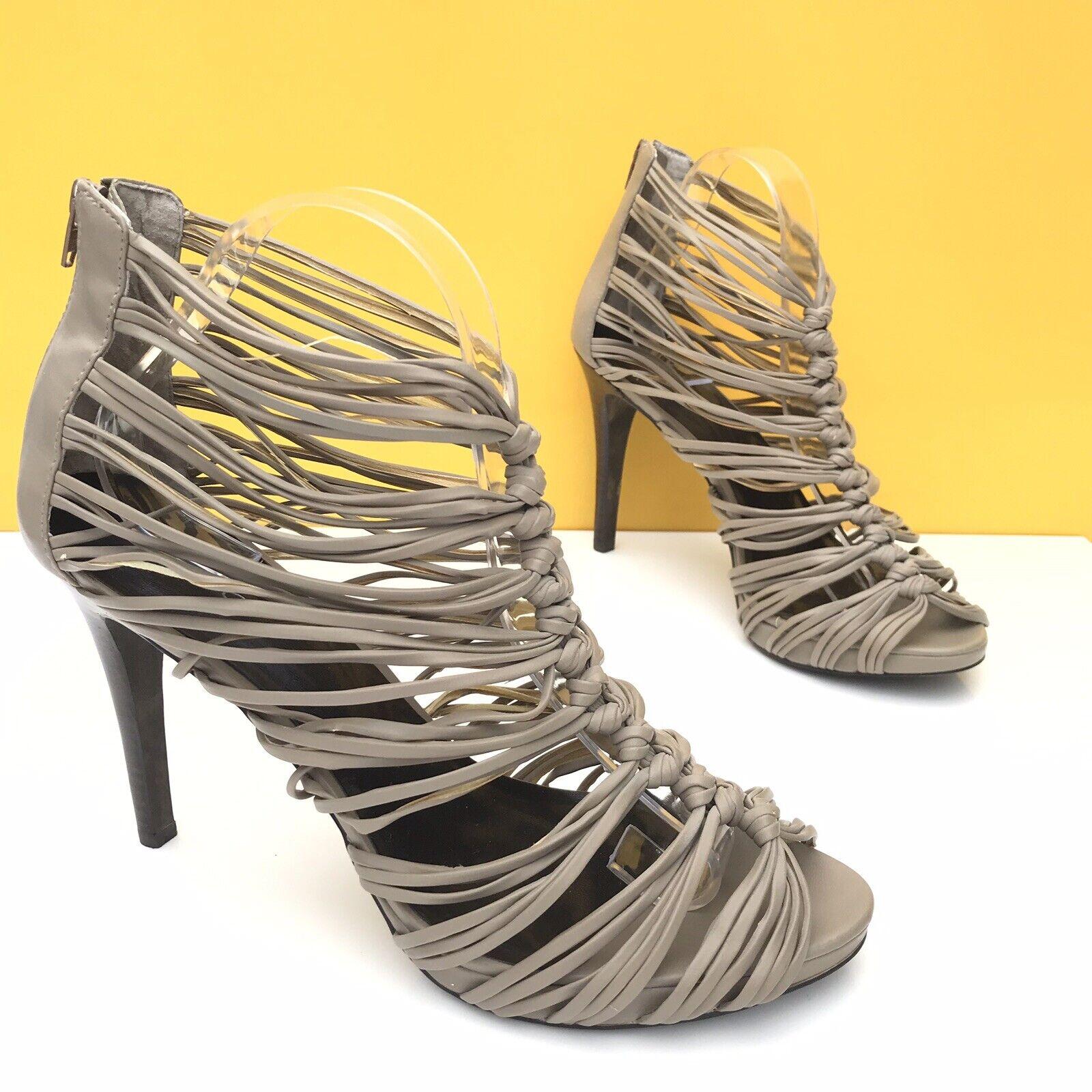 Aldo High Heel NEW Stiletto Sandals UK9 EUR42 Olive Grey Women's Shoes Peep Toe