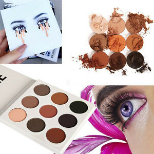 Fashion-Makeup-Matte-Kit-Eyeshadow-Palette-In-Bronze-Cosmetics-9-Colors-Set-Kit