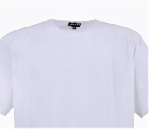 Lavecchia  T-shirt neu Herren kurz Arm Übergrößen 4xl 121-1 8xl white LV