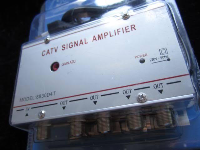 AMPLIFICADOR SEÑAL TELEVISION TV SAT SATELITE SIGNAL CABLE CATV AMPLIFIER TDT