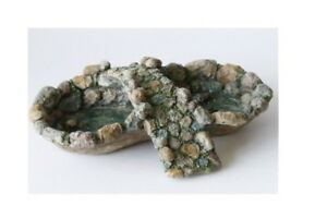 Miniature-Dollhouse-FAIRY-GARDEN-Stone-Pond-And-Bridge-Accessories