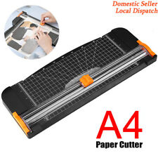 Heavy Duty Paper Cutter A4 Paper Trimmer Photo Guillotine Rotary Cupboard Safe