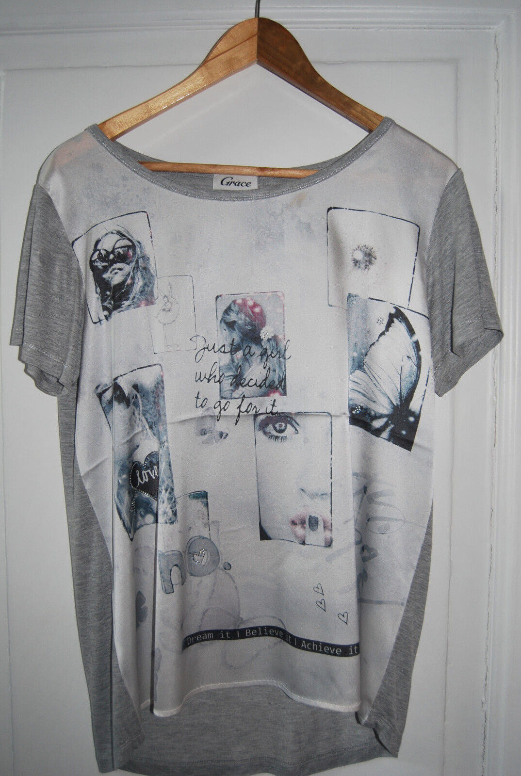 Grace Damen T-Shirt mit Seiden-Anteil