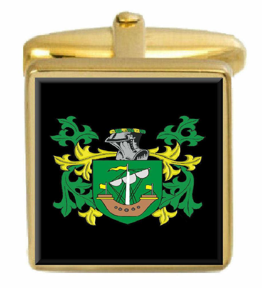 STOCK Inghilterra STEMMA STEMMA STEMMA DI FAMIGLIA cognome STEMMA Gemelli in oro incisi BOX 612cec