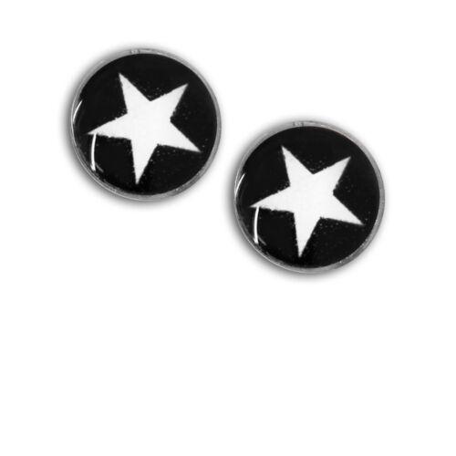2 St imán Fake Plug con estrella niños expansor rosa negro rojo lila azul