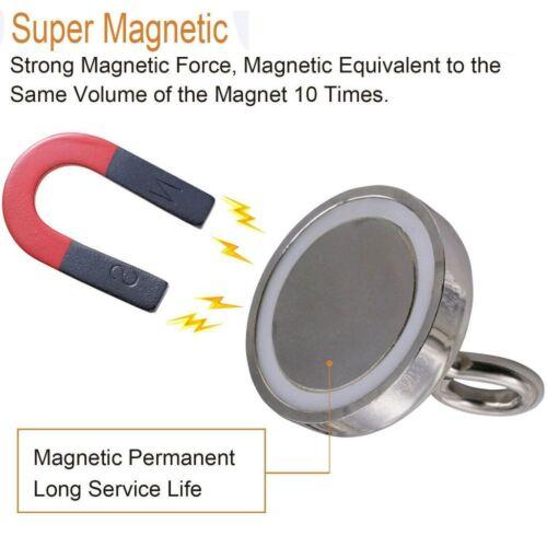 Starke Haftkraft Magnet mit Öse 2-10 Stk Magnetöse Neodym Ø 30 mm Topfmagnet