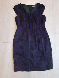 M S Per Una Dress Purple Black Size 14 Uk Ebay