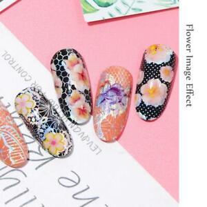 16x-Spitze-Nail-Art-Transfer-Folien-holographische-Blumen-Designs-Nagel-Aufklebe
