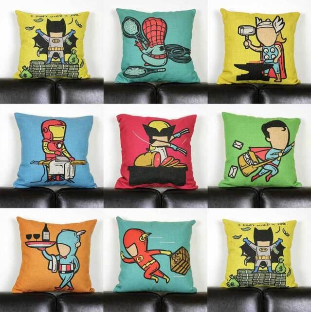 Cushion Cover Super Hero Get Job Avengers SHIELD Marvel Throw Pillow Case Linen