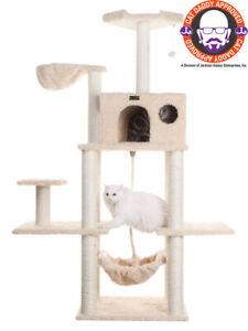 """69"""" Armarkat Cat Tree Condo Bed Perch Play House Scratching Post Beige A6901"""