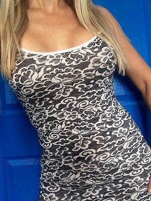 LACE PAISLEY Floral long cami spaghetti camisole tunic S M L Plus 1X 2X 3X