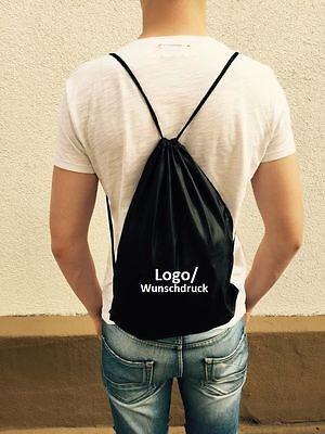 Turnbeutel Sportbeutel Sporttasche Gym Rucksack Backpack mit Wunschdruck Name