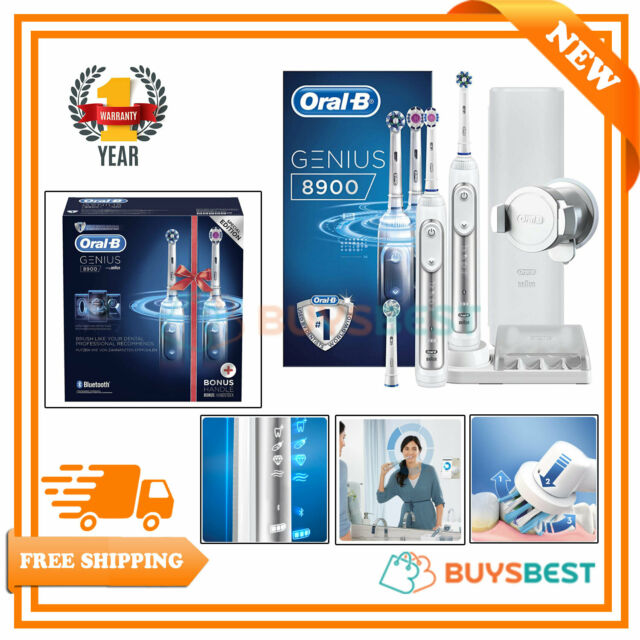 2 X Braun Oral B Genius 8900 Electric Rechargeable Power Toothbrush Bundle UK