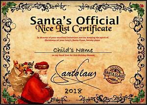 Personalised-Christmas-Santa-039-Nice-List-039-Certificate-7x5-039-039