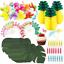 105pcs-Tropical-Hawaiian-Jungle-Luau-Beach-Theme-Party-Decoration-Supplies-Set miniature 1