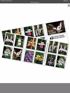 USPS Forever Stamps Orchid Flower - Full Sheet