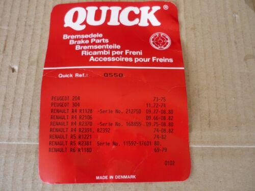 QUICK BRAKE Bremsbacken Zubehörsatz 0550 Bremsfedersatz NEU OVP Renault Peugeot