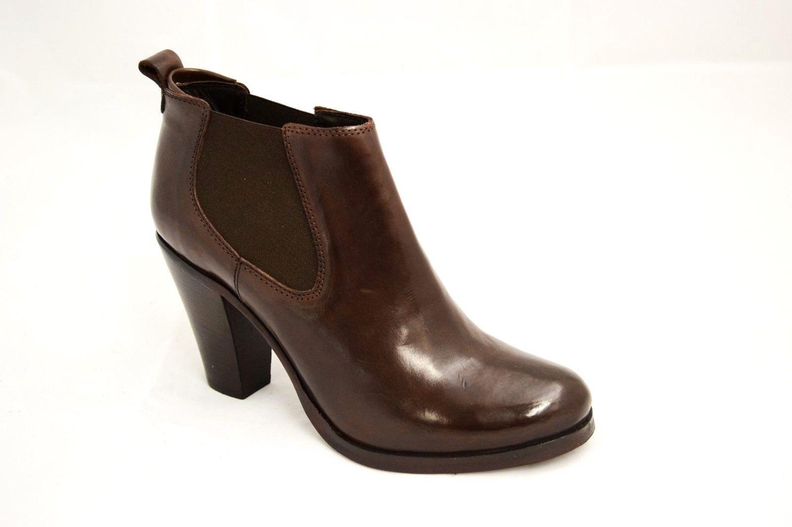 Zapatos especiales con descuento SCARPE STIVALETTI DONNA MARRONE 37 VERA PELLE MADE IN ITALY CON ELASTICO