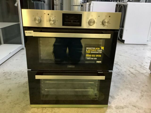 Zanussi ZOF35661XK Built Under 59cm Electric Double Oven #RW19561 *No Grill pan*
