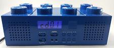LEGO Blue Brick Boombox with CD player AM/FM Radio Alarm Clock LG 11003 FREE S/H