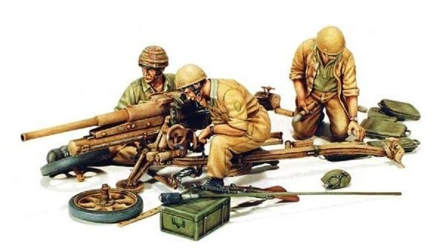 MODEL VICTORIA ITALIAN PARATROOPERS WITH 47/32 A.T.GUN Scale 1:35 Cod.4026
